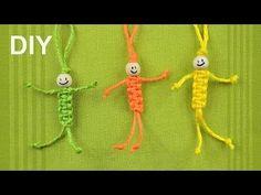 Como hacer un llavero de muñeco con hilo cola de rata v#22 - YouTube