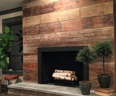Shiplap around the fireplace