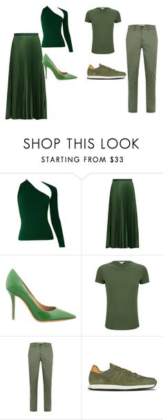 """""""random green outfit"""" by bethanyperoff on Polyvore featuring Vanessa Bruno, Salvatore Ferragamo, Orlebar Brown, Topman and Saucony"""