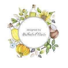 Logo Baking Logo Design, Cake Logo Design, Branding Design, Watercolor Logo, Floral Watercolor, Logo Restaurant, Coffee Design, Logo Food, Fruit Art