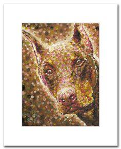 Doberman Pinscher Puppy Painting Dog Art by Zhen Pet by Artsellusa