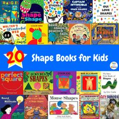 20 Shape Books for Kids - Fun with Mama Math Books, Preschool Books, Math Activities, Toddler Activities, Preschool Activities, Preschool Shapes, Kindergarten Shapes, Math Literature, Kid Books