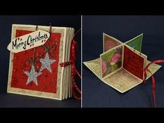 DIY Pop Up Corner Christmas Card - Magical Handmade Greeting Card for Christmas - YouTube