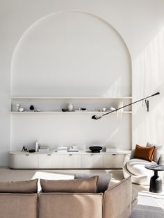 quirky home decor Arched wall niche and use of volumes Interior Design Minimalist, Interior Desing, Interior Architecture, Danish Interior Design, Arch Interior, Interior Colors, Danish Design, Interior Lighting, Interior Ideas