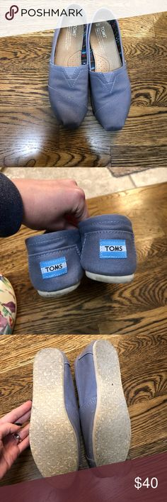 Toms Light Blue Shoes Loafers 8 Worn 1x!! Just not my style Toms Shoes
