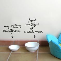 Pet's Kit Cat Wall Stickers, 26€, now featured on Fab.