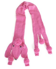 "Pink Poodle Scarf - pattern to buy.  For Sophie who wants a ""pink poodle puppy""?"