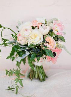 David Austins, Garden Roses, Ranunculus, Anemones, Jasmin vine, Passionfruit vine, Ivy berry, tulips - Oh Flora bouquet, Sydney Florist