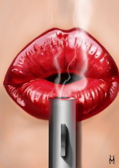 Ideas for pop art wallpaper red lips Arte Pop, Dark Fantasy Art, Pin Up, Airbrush Art, Beautiful Lips, Dope Art, Erotic Art, Red Lips, Art Girl