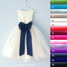 High quality satin sash with 8 cm width and 2 m length. Great as bridal belt, bridesmaids, flower girls, maternity sash.  15 beautiful colors are available.  Dress from the picture is available here IVORY COLOR https://www.etsy.com/au/listing/275683934/flower-girl-dress-ivory-wedding-junior WHITE COLOR https://www.etsy.com/au/listing/261306035/flower-girl-dress-white-wedding-junior  _______________________________ DRESSES: https://www.etsy.com/au/shop/AnaBalahan?section_id=16703164 BELT AND…