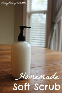 Homemade Soft Scrub -- I can't believe I waited so long to try this. It is so, so simple to make and works well!