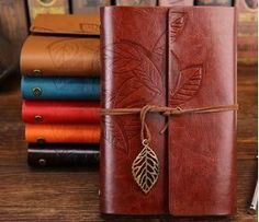 Leaf Faux Leather Spiral Notebook&Journal Diary Agenda