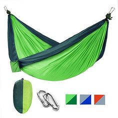 831204c0d8 Nylon Parachute Portable Camping Hammock Kit With Two Hammock Straps  gift   love  me