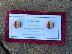 Plaid Fabric Earrings by JamieGregoryHandmade on Etsy