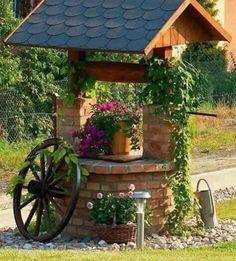 4 Creative Ideas: Easy Backyard Garden How To Grow backyard garden design couple.Backyard Garden Planters Old Tires. Cottage Garden Design, Cottage Garden Plants, Diy Garden Decor, Garden Art, Planter Garden, Cottage Gardens, Fairy Gardens, Wishing Well Garden, Small Fence