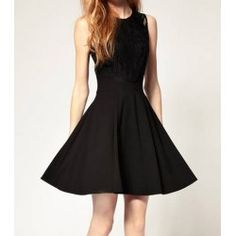 Wholesale Solid Color Scoop Neck Ruffled Sleeveless Casual Dress For Women (BLACK,S), Vintage Dresses - Rosewholesale.com