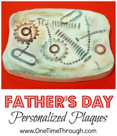 A beautiful personalized gift for kids to make for their Dads!  at www.onetimethrough.com #Father's Day