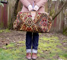 """Anne of Green Gables: """"I've got all my worldly goods in it, but it isn't heavy. And if it isn't carried in just a certain way the handle pulls out... It's an extremely old carpetbag."""""""