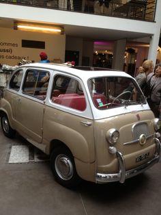 love this colour combination! taupe Fiat mini-van