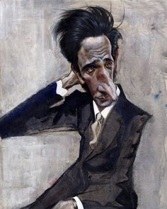 actor Adrien Brody Caricature By Jota Leal