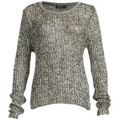 Pussycat Gold & Black Sequin Knit Jumper ($23) ❤ liked on Polyvore featuring tops, sweaters, clearance, gold, sequin sweater, black sweater, gold sequin top, knit sweater ve metallic sweater
