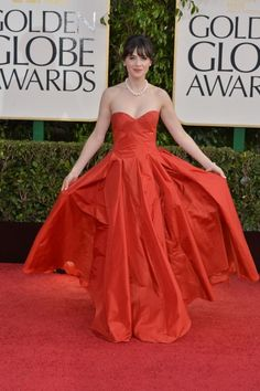 Snaps From The 2013 Golden Globe Awards - Zooey Deschanel / Photo by George Pimentel