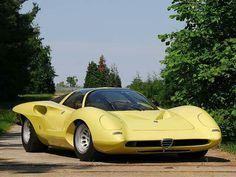 Alfa Romeo 33 Pininfarina Coupe Prototipo Speciale – 1969  One-off  Designer : Leonardo Fioravanti By :Pininfarina V8 1.995 cc 230 CV