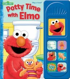 Read the story and press 7 sound buttons to hear Elmo teach Baby David about the potty. Elmo makes potty training fun, and that encourages your child to want to use the potty. 20 cm x 23 cm 10 page board and sound book. Potty Training Boys, Toilet Training, Training Tips, Street Fighter, Elmo, Toy Store, Along The Way, Your Child, More Fun