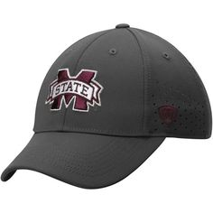 Mississippi State Bulldogs Top of the World Jock II 1Fit Flex Hat - Charcoal - $22.99