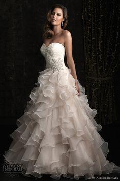 allure bridals wedding dress 8955 strapless ball gown ruffle skirt