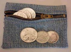 Make A Money Purse /Pouch ! From Recycling Jeans !