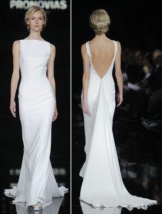 Vestido de noiva - Pronovias minimalista                                                                                                                                                                                 Mais