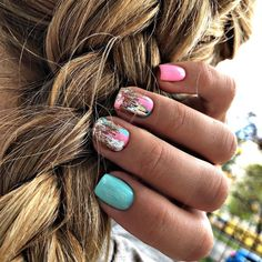 Fancy Nails, Cute Nails, Pretty Nails, Shellac Nails, Acrylic Nails, Nail Polish, Western Nails, Nail Candy, Rainbow Nails