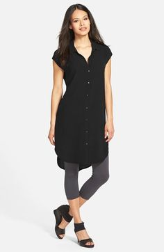 Eileen Fisher Classic Collar Silk Tunic (Online Only) available at #Nordstrom