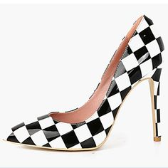Women's+Shoes+Patent+Leather+Stiletto+Heel+Heels/Pointed+Toe+Pumps/Heels+Wedding/Party+&+Evening/Dress+Black/Red+–+USD+$+40.79