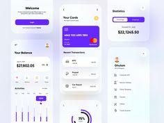 Banking and Finance App UX-UI Design by Ghulam Rasool 🚀