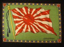 JAPAN FLAG Early 1900s Tobacco Cigar Cigarettes Silks Felt Rug Dollhouse