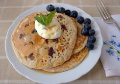 Recipe: Jewelled American Pancakes from Fuss Free Flavours