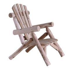 Outdoor Adirondack Style Cedar Log Lounge Chair
