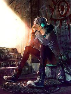 """Underground"" ft. Frey (Fisheye Placebo) | art and story by yuumei on deviantART"