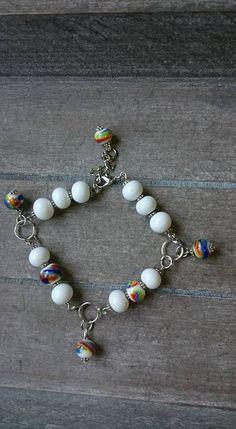 Armband handgemaakte glaskralen,Bracelet of handmade glass beads door sieradenenzeep op Etsy