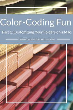 Color-Coding Fun, Part Customizing Your Folders on a Mac Presentation Folder, Professional Presentation, Professional Organizing Tips, Professional Organizers, Hr Jobs, Genealogy Organization, Making Life Easier, Getting Organized, Mac