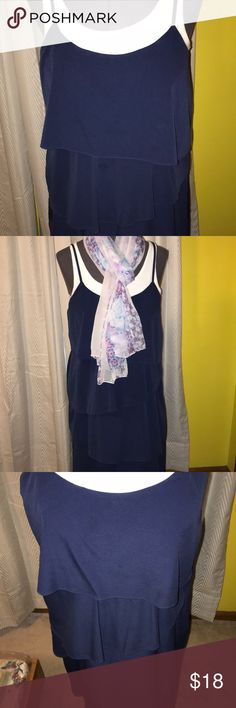 Tiered navy blue maxi dress Silky poly with a pretty drape, spaghetti straps. Size M. Old Navy brand. Great used condition. Old Navy Dresses Maxi