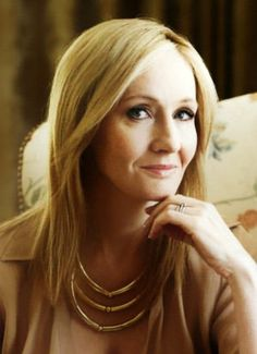 J. K. Rowling.  Photo from Barnes & Noble listing for her newest book, The Casual Vacancy, available 9/27/12.
