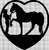 COWGIRL LOVES HORSE Graphghan Pattern - via @Craftsy