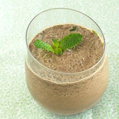 Double Chocolate Mint Smoothie  Chocolate protein powder and cacao powder give our shake two times the flavor – a rich dose of chocolate with a hint of mint and barely any fat!