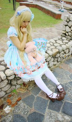 Very cute~! #LolitaFashion #Lolita #Fashion #LolitaFountain