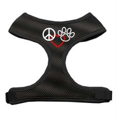 Mirage Pet Products Peace, Love, Paw Design Soft Mesh Dog Harnesses, Large, Black * Visit the image link more details. (This is an Amazon affiliate link)