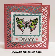 Dream Butterfly Card Shin Han Markers Arfully Sent #ctmh #scraptabulousdesigns #cricutexplore