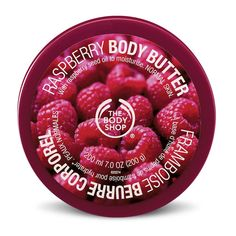 The Body Shop Raspberry Body Butter ($20) ❤ liked on Polyvore featuring beauty products, bath & body products, body moisturizers, beauty, fillers, makeup, cosmetics, accessories, backgrounds and body moisturizer